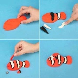 Membuat Patung Boneka Hewan Ikan Nemo