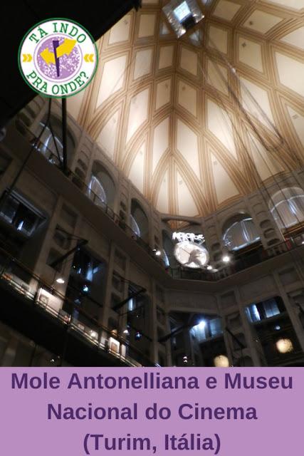 Mole Antonelliana, o Museu Nacional do Cinema e o Palazzo Madama em Turim (Itália)