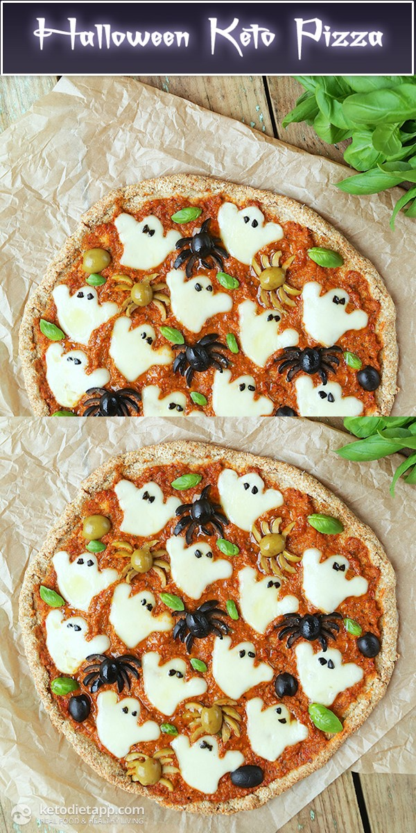 Spooky Halloween Low-Carb Pizza #halloweenrecipes