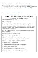 ITI Job Campus Drive Placement at Govt ITI Rajsamand, Rajasthan For Suzuki Motors Gujarat Plant