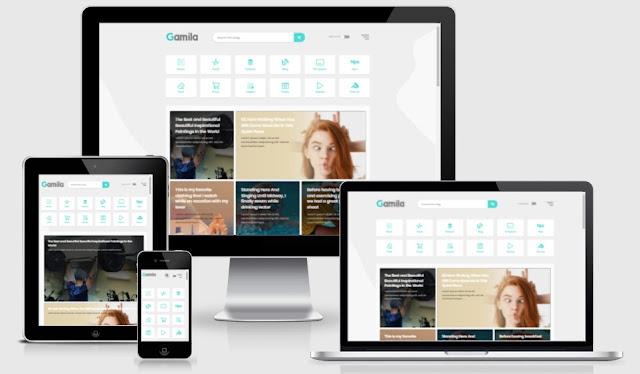 Gamila Blogger Template Premium Free Download