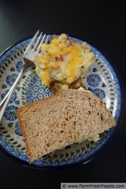 photo of egg salad sandwich and mashed potatoes, an alternate ending for this Instant Pot Vegetarian Breakfast Burritos recipe