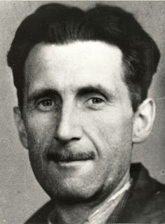 Picture of George Orwell which appears in an old accreditation for the Branch of the National Union of Journalists (BNUJ)