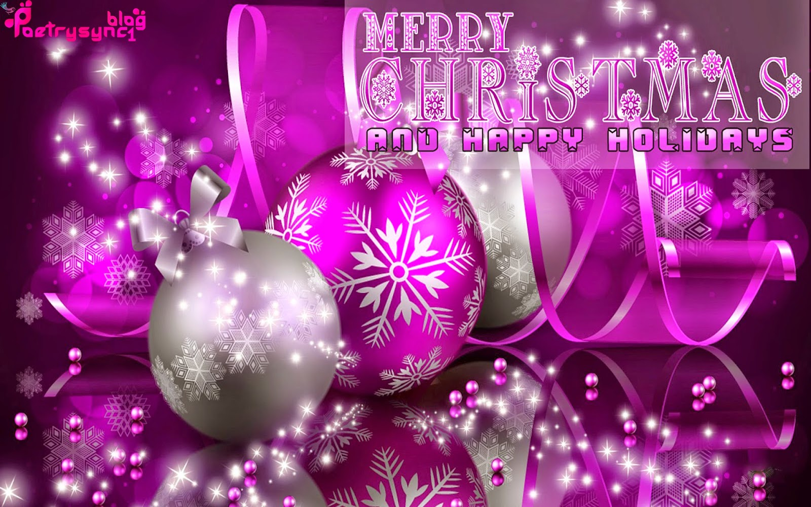 Merry christmas and happy holidays with best wishes pictures with merry christmas pink greetings m4hsunfo