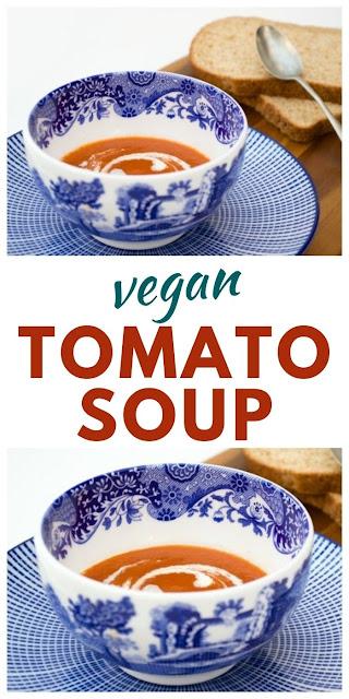 Quick and easy vegan tomato soup