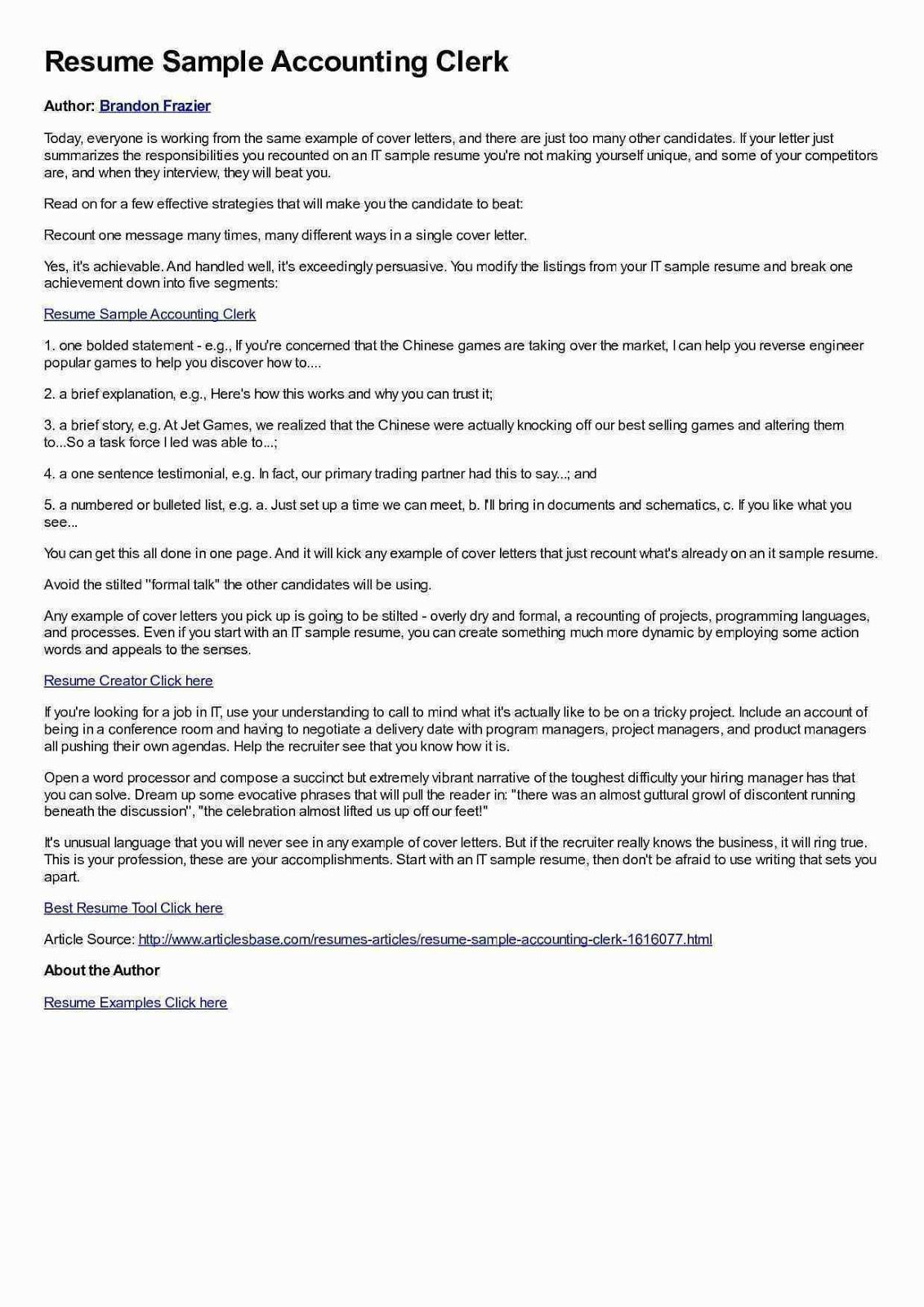 accounting clerk resume sample accounting clerk resume samples canada accounting clerk resume example accounting clerk functional resume sample accounting clerk job resume sample accounting payable clerk resume sample accounts receivable clerk resume sample entry level accounting clerk resume sample junior accounting clerk sample resume accounts payable clerk resume example canada best sample accounting clerk resume