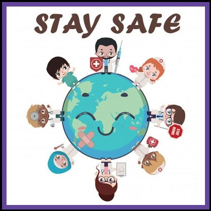 Hero doctors and nurses healing the world stay safe