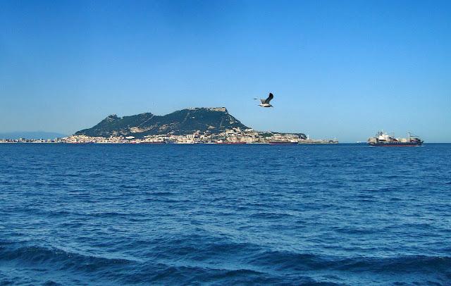 Mar, azul, estrecho, gibraltar