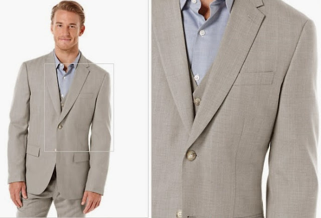 Perry Ellis linen blend suit