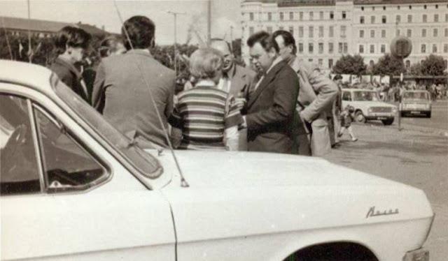 22 июля 1978 года. Рига. Привокзальная площадь. Встреча космонавта Георгия Михайловича Гречко