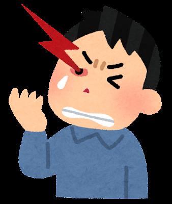 群発頭痛のイラスト