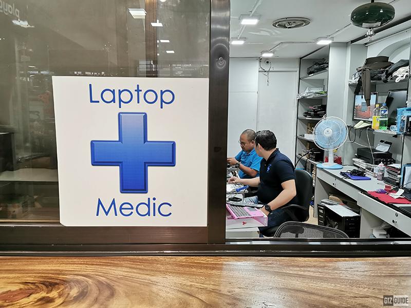 Laptop Medic's open-window center