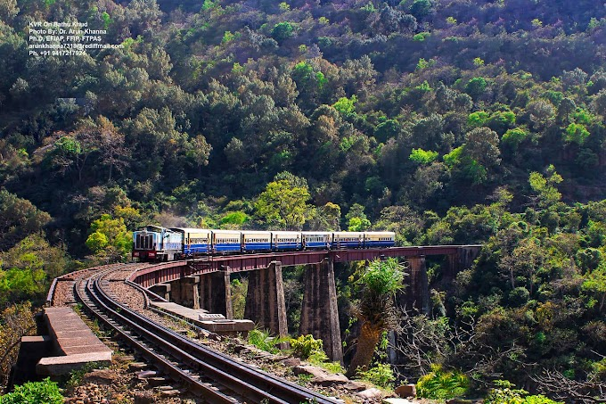 A train negotiating a bridge on KVR section