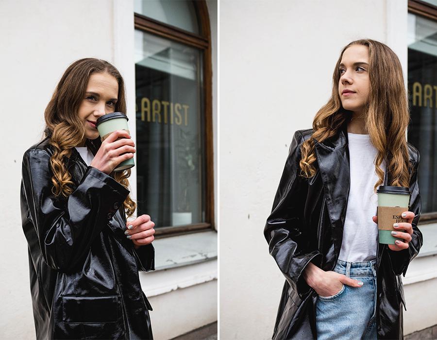 Kuinka pukea tekonahkainen bleiseri // How to style a faux leather blazer