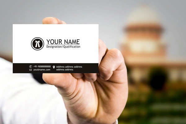Indian Law Office Business Cards Design 2018