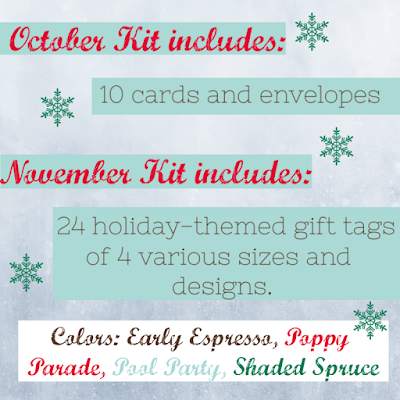 Contents of October and November 2019 Paper Pumpkin kits - Subscribe with Nicole Steele