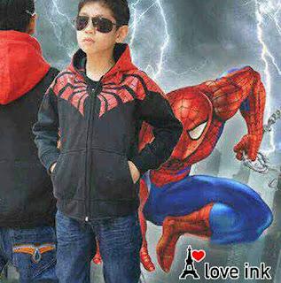 Jaket Anak Spiderman Black - Harga Saudara
