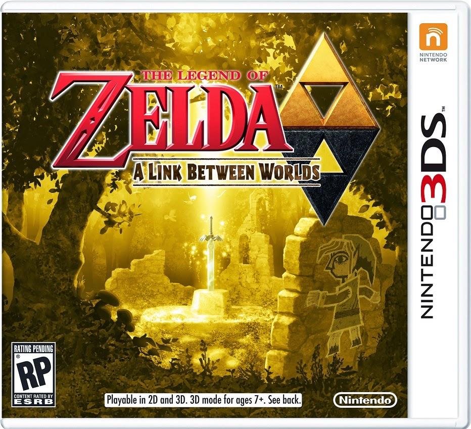3DS The Legend of Zelda A Link Between Worlds Cover