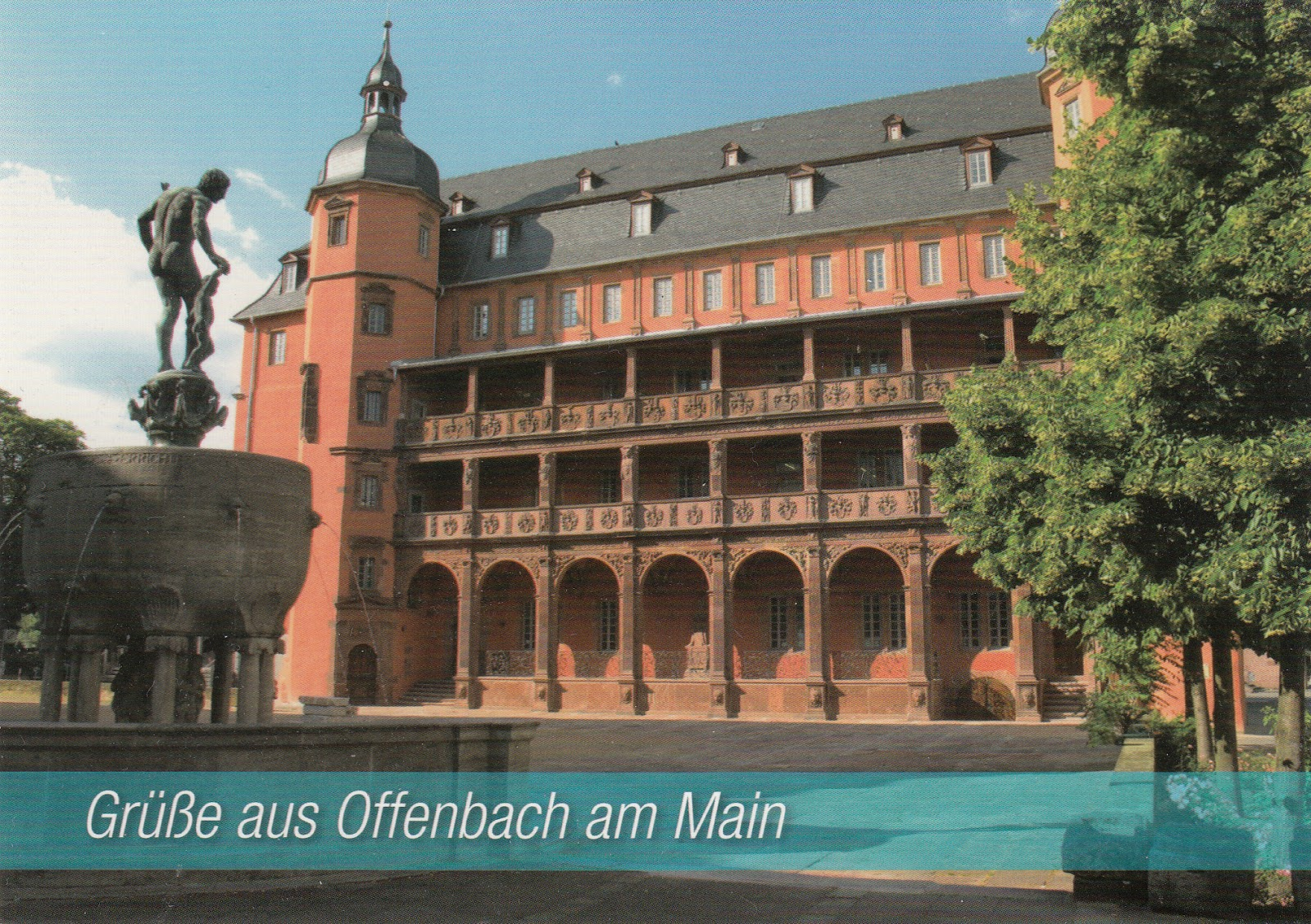 My postcard and stamp week germany isenburg castle in for Uni offenbach