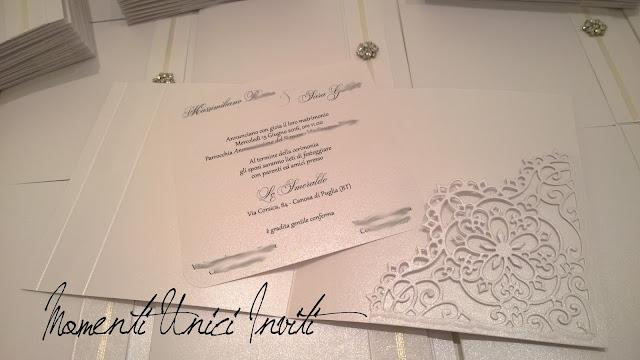 sa4 Le partecipazioni della collezione Luxury di Sara e MassimilianoCollezione Luxury Colore Bianco Linea Luxury Partecipazioni intagliate Serie Luxury