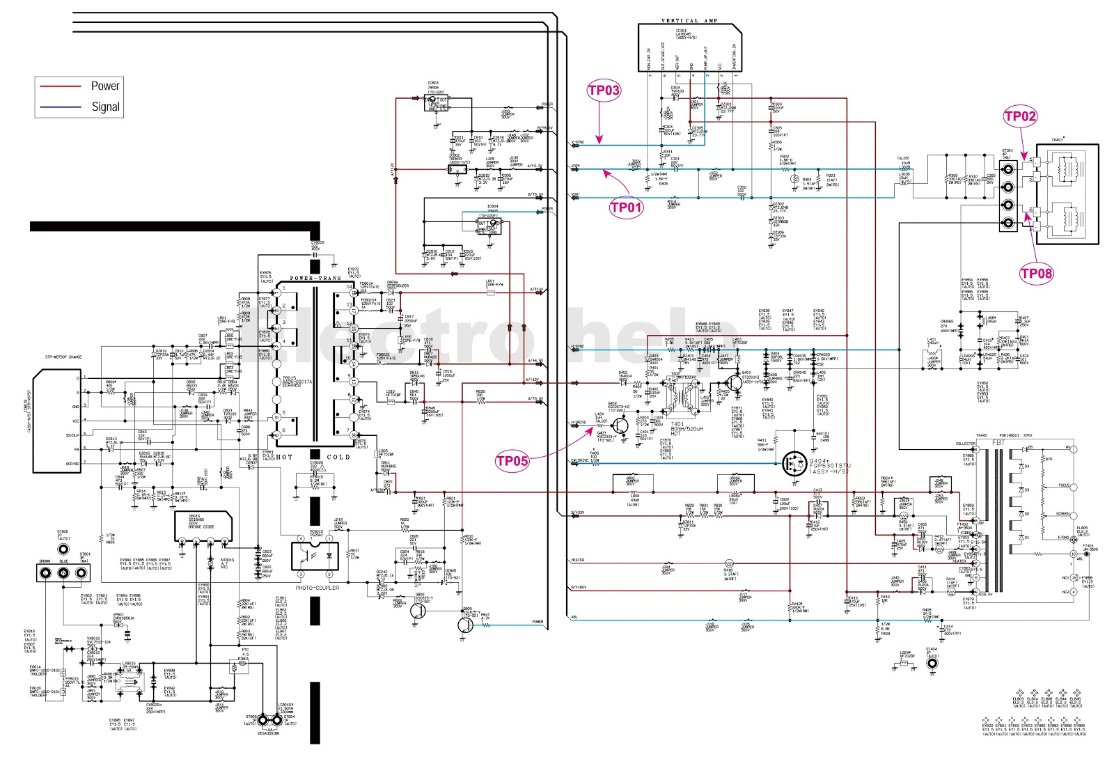 toshiba xv550xv600da lcd tv power supply schematic circuit diagram toshiba lcd tv circuit diagram [ 1600 x 1100 Pixel ]