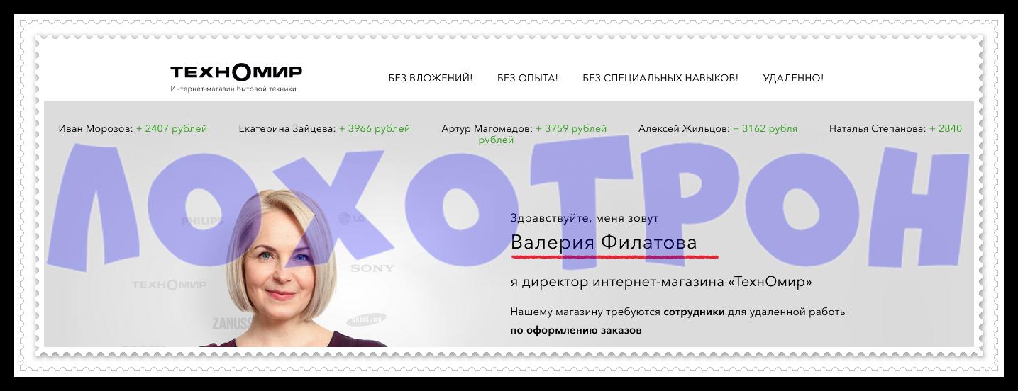 Интернет магазин бытовой техники ТехнОмир - technomir.aaiwe.xyz отзывы, лохотрон!