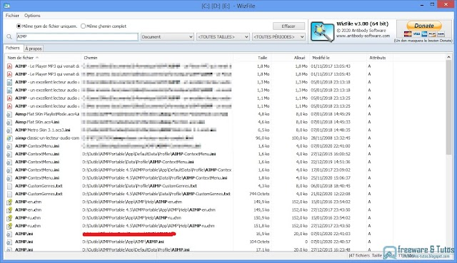 WizFile : un logiciel hyper rapide pour trouver instantanément vos fichiers