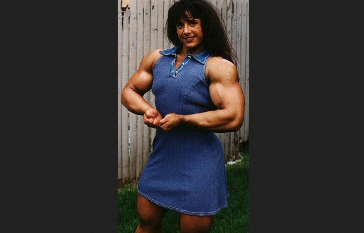 Tina lockwood of genetics challenge The Amazing and biggest female Bodybuilding, Huge fbb
