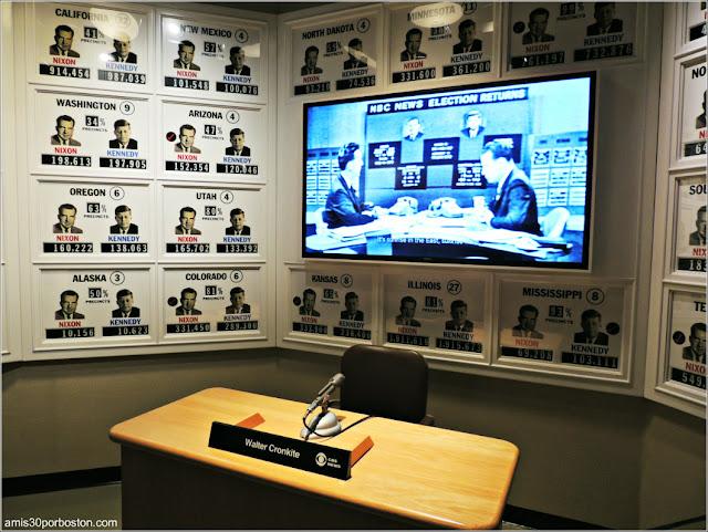 Recreación Estudio de Noticias de la CBS