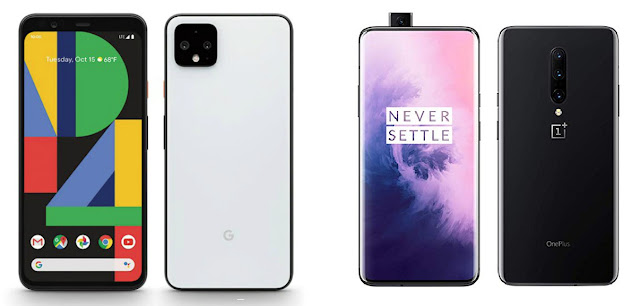 Google Pixel 4 XL vs OnePlus 7T Pro