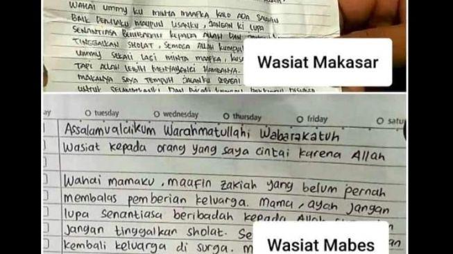 Wasiat Teroris Makassar - Mabes Polri Sama, Publik: Ya Mungkin Aja Kerja Kelompok