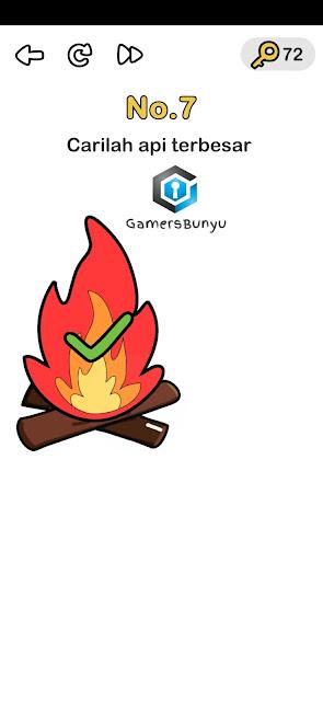 Carilah api terbesar