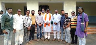 नगर के भाजपा कार्यकर्ताओं ने कृषि मंत्री का स्वागत सम्मान किया