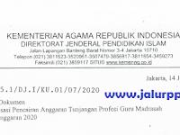 SE Optimalisasi Pencairan Anggaran TPG Madrasah TA. 2020