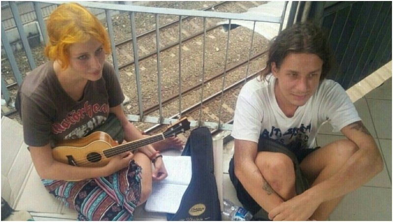 Pasangan mahasiswa Rusia Dimitrii Abdugafarov dan Aleksandra Kolesnikova