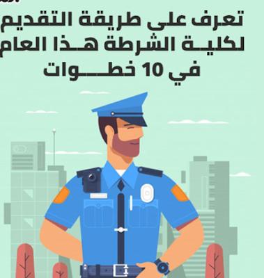 شرح بالصور كيفية التقديم بكلية الشرطة المصرية للعام 2020-2021 ورابط التقديم على موقع وزارة الداخلية