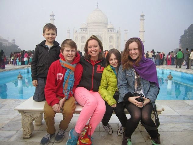 Taj Mahal with Kids