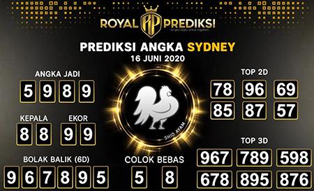 Prediksi Togel Sidney Selasa 16 Juni 2020 - Royal Prediksi