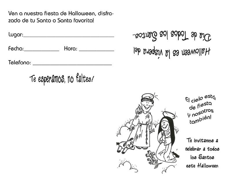 Peques Y Pecas Tarjeta Invitación Para Fiesta Halloween