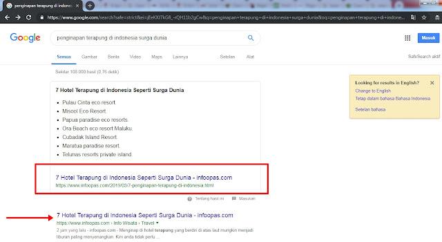 Cara mudah membuat Artikel SEO Page one Google
