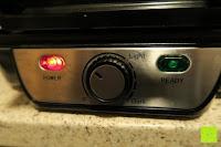 grüne Lampe aus: Waffeleisen Belgisch für 4 belgische Waffeln,XXL Waffelautomat,brüssler Doppel,Thermostat, stufenlose Temperatureinstellung, Backampel, Cool-Touch Griff
