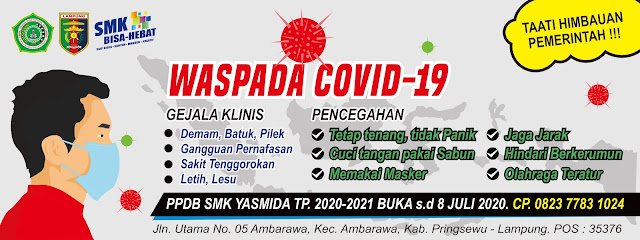 Banner Waspada Covid-19 SMK Yasmida Ambarawa