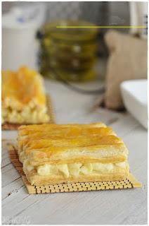 Tarta con crema de mantequilla-  Pastel de hojaldre: Persianas de Hojaldre con crema de mantequilla- Como hacer Buttercream de merengue suizo
