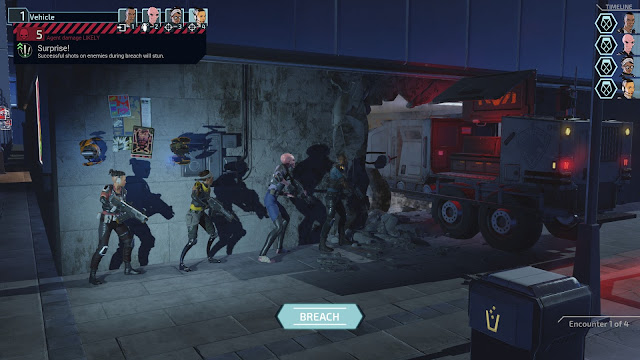 Screenshot of Breach screen for final mission Take Down Atlas in XCOM: Chimera Squad