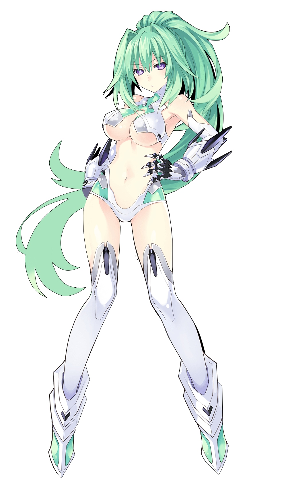 Render Green Heart + Hyperdimension Neptunia