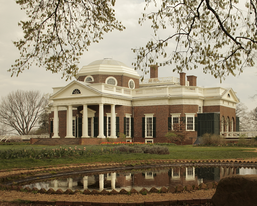 The Home Of Thomas Jefferson Named Monticello Is Located In Charlottesville Virginia His Based On Two Paladin Villas Built Many Years Ago And From