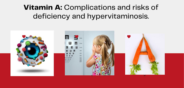 Vitamin A, Complications and risks of deficiency and hypervitaminosis.