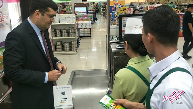 "Robinsons Supermarket on Contactless Payment via VISA ""Tap to Pay"""