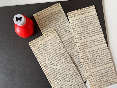 How to make bookmarks from old book pages