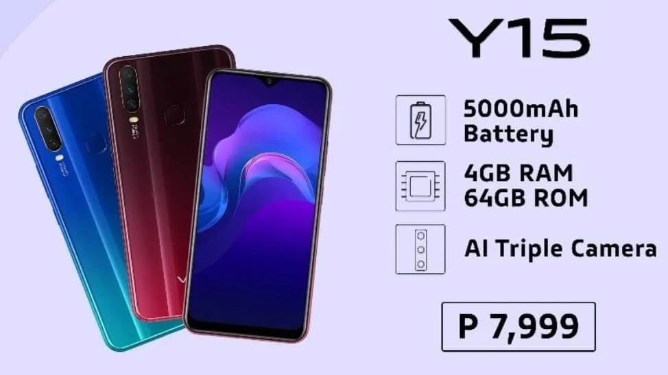 Vivo Y15 with Triple Camera and 5000mAh Battery Now Only Php7,999
